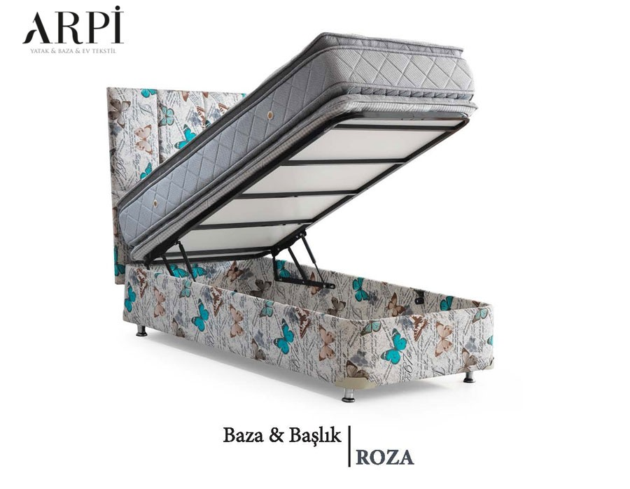 Tek Kişilik Roza Baza & Başlık